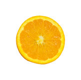 Orange Slice. over a white background Royalty Free Stock Image