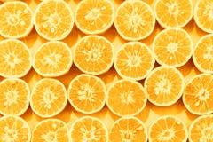 Orange slice pattern colorized pop art background.  royalty free stock photography