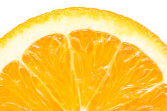 Orange Slice Peel Isolated Stock Images