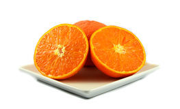 Orange slice  on plate Royalty Free Stock Image