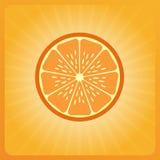Orange slice. Preview orange bright orange background dolkina Royalty Free Stock Photography