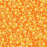 Orange slice seamless pattern watercolor stock illustration