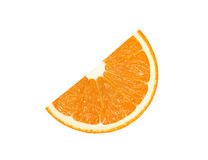 Orange slice sector isolated on a white background Stock Photo
