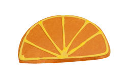 Orange slice shaped Butter Biscuit Cookie Royalty Free Stock Photo