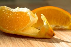 Orange slice from the skins royalty free stock photography
