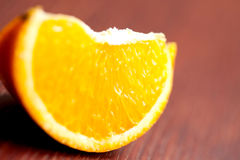Orange Slice On Table Royalty Free Stock Photos