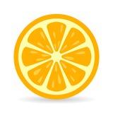 Orange slice vector icon Royalty Free Stock Photo