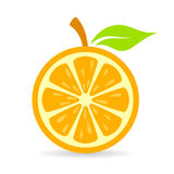 Orange slice vector icon Royalty Free Stock Image