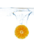 Orange slice in water Stock Photography