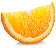 Orange slice on a white. Stock Photo
