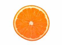 Orange. Slice on whitebackground, isolate Royalty Free Stock Photos