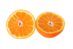 An orange sliced Royalty Free Stock Photo