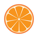 Orange sliced in half Stock Photos