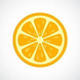 Orange sliced vector icon Royalty Free Stock Image