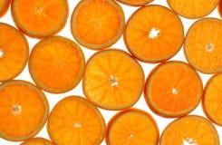 Orange slices. Fresh orange slices on white background Royalty Free Stock Photo