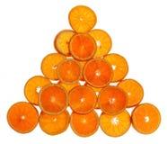 Orange slices. Fresh orange slices on white background Royalty Free Stock Photos