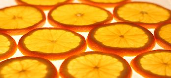 Orange slices. The photo of thin orange slices, which maked up a pattern royalty free stock photos