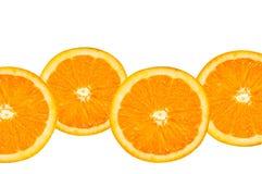 Orange slices. Some orange slices isolated on a white background Stock Images