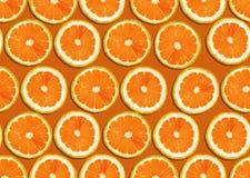 Orange slices. Seamless background of fresh orange slices Stock Photo