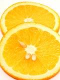Orange Slices. Isolated Stock Image