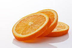 Orange slices. On white background Royalty Free Stock Photos