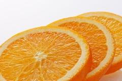 Orange slices. Close-up of orange slices on white background Royalty Free Stock Image