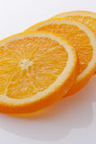 Orange slices. Close-up of orange slices on white background Stock Photography