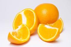 Orange with slices Stock Photo