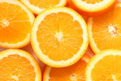 Orange Slices. Closeup orange slices as backgrounds Royalty Free Stock Photography