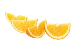 Orange slices. Isolated on white background Stock Image