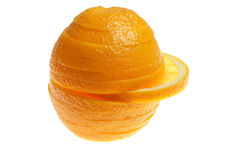 Orange slices. On a white background Stock Images