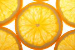 Orange slices. On a white background Royalty Free Stock Photography