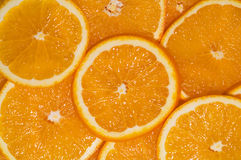 Orange slices. Ripe orange fruit slices background Stock Photo