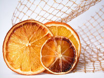 Orange slices. Composition of dry orange slices Royalty Free Stock Photos