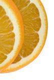 Orange slices. Two slices of fresh orange isolated on white Royalty Free Stock Photography