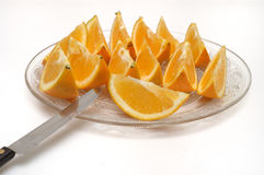 Orange slices Royalty Free Stock Images
