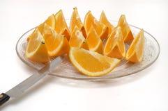 Orange slices. It is isolated, cut orange slices Royalty Free Stock Images