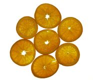 Orange slices. Over white Royalty Free Stock Photo