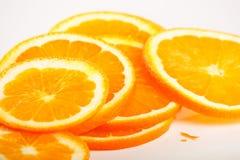Orange slices. On the white Stock Photos