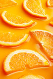 Orange slices background Stock Photo