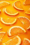 Orange slices background Stock Images