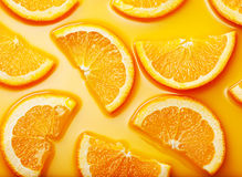 Orange slices background Stock Photo