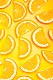 Orange slices background Stock Photos