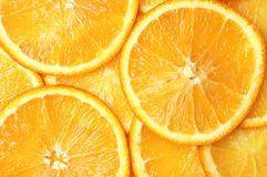 Orange slices background stock images