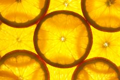 Orange slices background / macro Stock Image