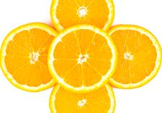 Orange slices close up Stock Photo