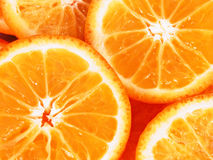 Orange slices close up stock photos