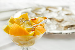 Orange slices cutup Royalty Free Stock Images