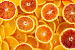 Orange slices full frame Stock Photos