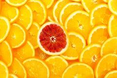 Orange slices full frame Stock Photo